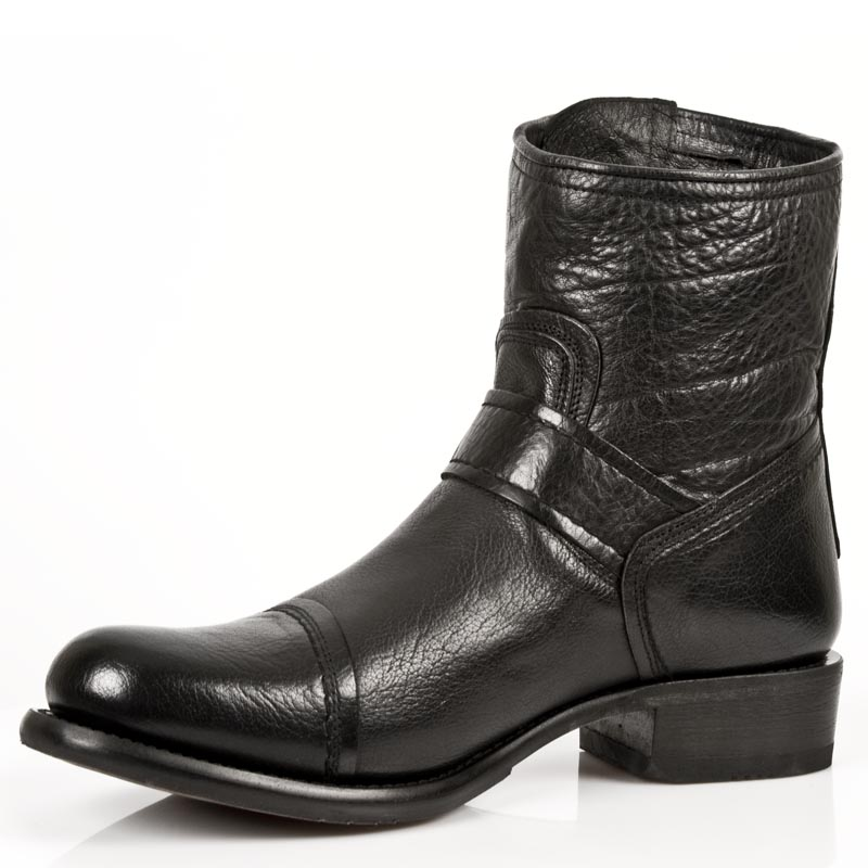 buffalo hide leather ankle boots. Black Bedroom Furniture Sets. Home Design Ideas