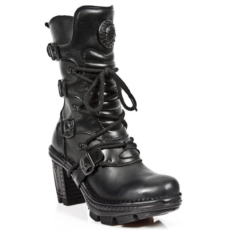 quality all black leather boots