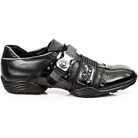 Black Leather Euro Fashion Shoes