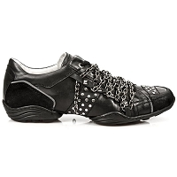 Black with Silver Chains Fashion Sneaker *May take up to 45 - 50 Days to Receive*