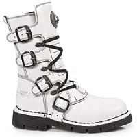 White Leather Combat Boots   *May take up to 35 - 45 Days to Receive*