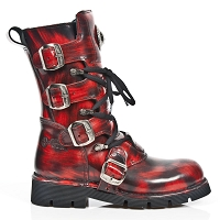 Black & Red Blur Military Boots *May take up to 35 - 45 Days to Receive*
