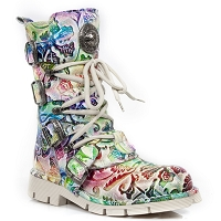 Rainbow Floral Pattern Boots LADIES US SIZES 7, 8 & 8.5 ONLY