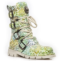 Blue / Green & and White Paisley Ladies US Sizes 6 - 9 Only