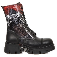 Black Leather Grim Reaper Boots Up to Mens 14