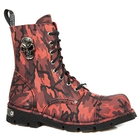 Red Camouflage Leather Boots
