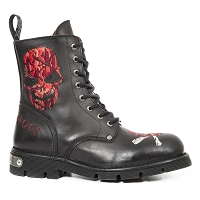 Red Skull n Cross Bones *Sizes Mens 14 and 15 are Custom made and may take up to 45 - 50 Days to Receive*