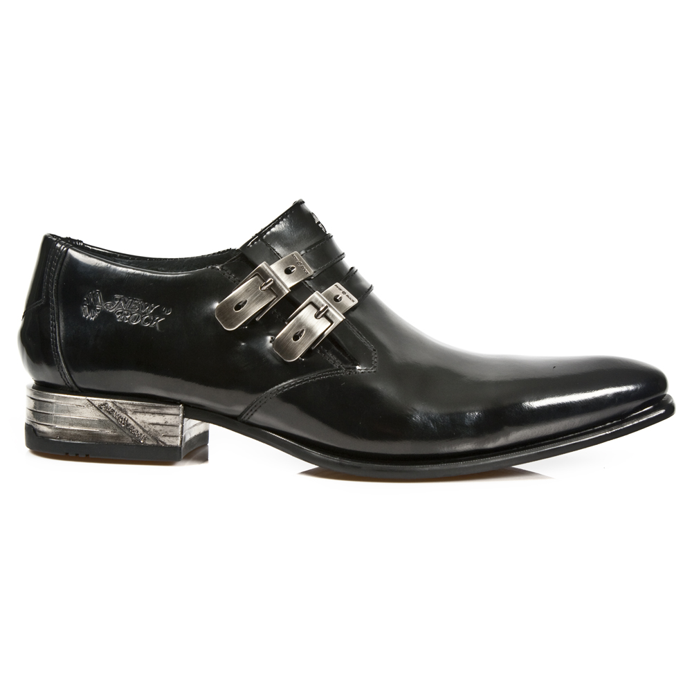 shiny black leather dress shoes from new rock boots