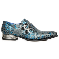 Grey w Blue Paisley Flowers VIP