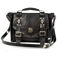 Black Leather New Rock Bag