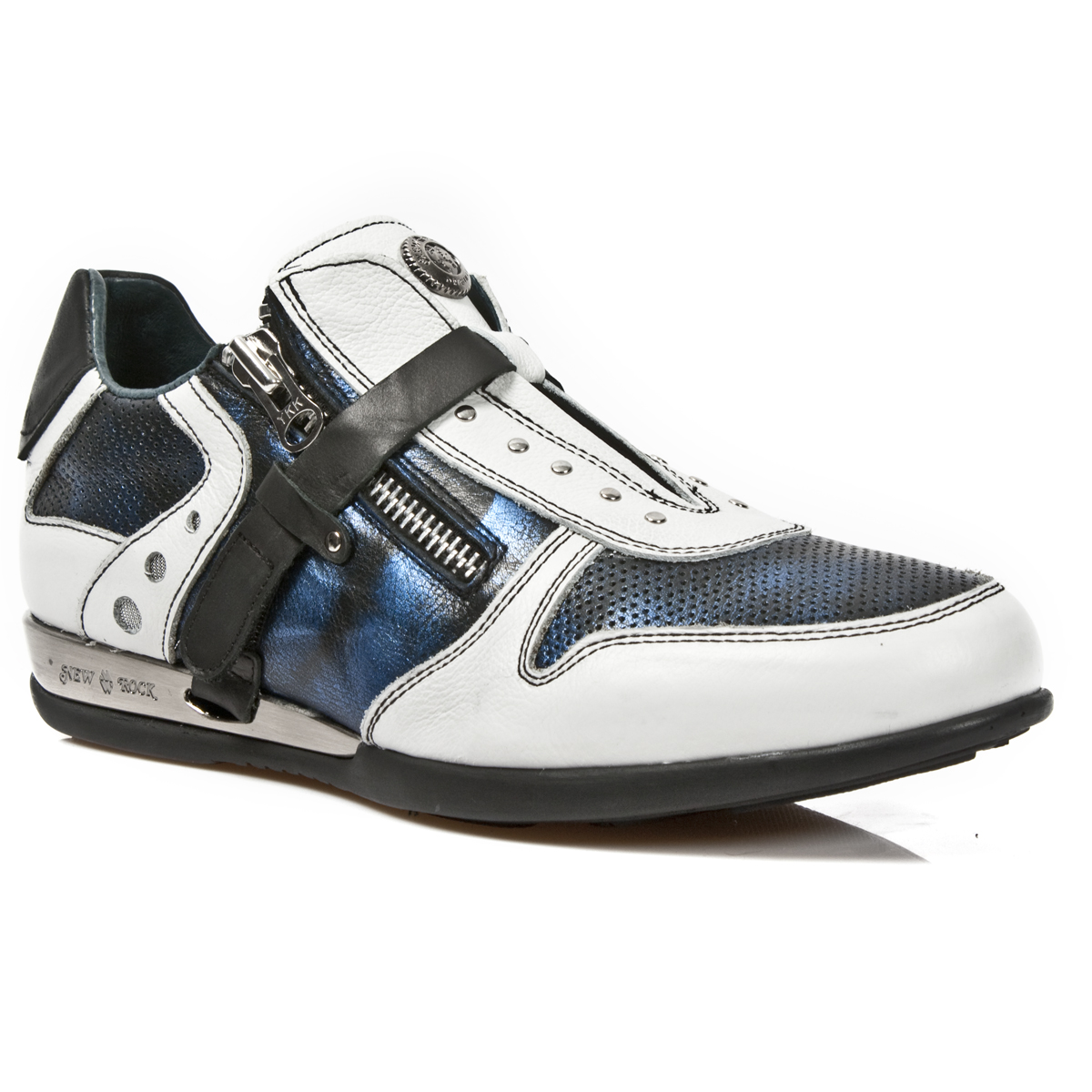 white blue leather hybrid dress shoes may take up to 45