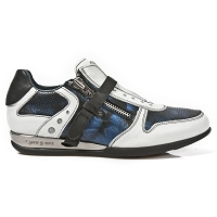 White & Blue Leather Hybrid Dress Shoes  *May take up to 45 - 50 Days to Receive*
