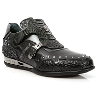 Python Black Leather Hybrid Shoes *May take up to 45 - 50 Days to Receive*