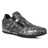 All Grey w Paisley Pattern Leather *May take up to 45 - 50 Days to Receive*