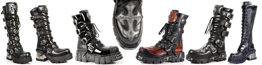 2c0c799b8e5 Goth Punk New Rock Boots Unisex Styles with Flames