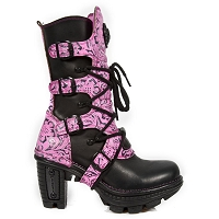 Sexy Black & Pink Leather Boots . ON CLEARANCE LADIES US 7 ONLY!
