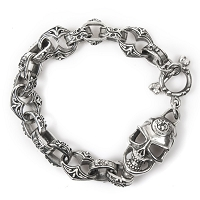 New Rock Skulls Authentic Silver Bracelet