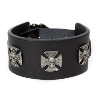 Black Leather, Iron Cross Cuff