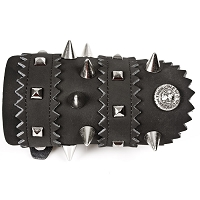 Leather Spiked Wrist Bracelet