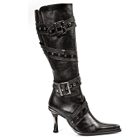 Studded European Black Leather Malica Boots *May take up to 35 - 45 Days to Receive*