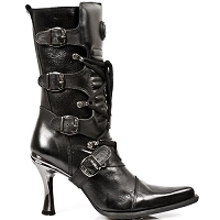 Black Leather Malicia Boots *May take up to 35 - 45 Days to Receive*