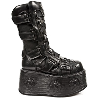 Black Leather Spacewalkers w Velcro Straps *May take up to 35 - 45 Days to Receive*