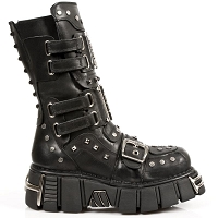 Black Leather Studded Metalhead Boots . *May take up to 35 - 45 Days Delivery*
