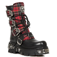 Red Plaid w Skull Buckles