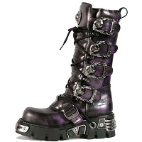 Dark Purple Leather Knee High *May take up to 45 - 50 Days to Receive*