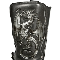 Dark Silver Dragon Ladies Size 7 *CLEARANCE - Ready to Ship Out*