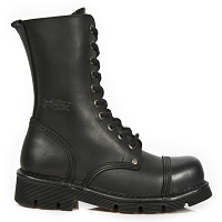 Black Leather New Rock Combat Boots  *May take up to 35 - 45 Days to Receive*