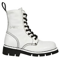 White Leather Military Boots  *May take up to 35 - 45 Days to Receive*