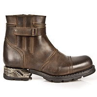 Brown Leather Motorcycle Ankle Boots *May take up to 45 - 50 Days to Receive*