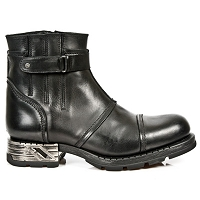Black Leather Motorcycle Ankle Boots *May take up to 45 - 50 Days to Receive*