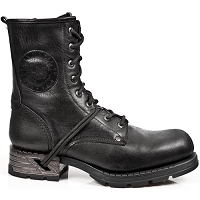 Black Leather Motorcycle Boots w Laces *May take up to 45 - 50 Days to Receive*