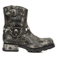 Grey Python Pattern Motorcycle Boots w Flames *May take up to 45 Days to Receive*
