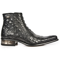 Black Alligator Ankle Dress Shoes