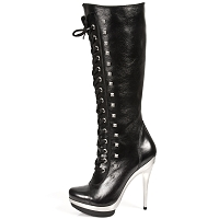 High Quality Black Leather Punk Boots *May take up to 35 - 45 Days to Receive*