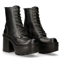 Black Vegan Ladies 70's Era boots w 4