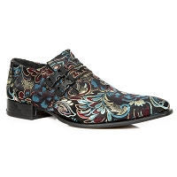 Multicolor Floral VIP Leather Shoes