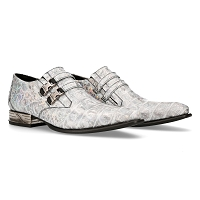 White Sky Pattern w Hints of Color VIP Leather Shoes