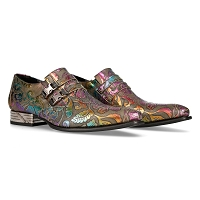 Multicolor Metallic Floral VIP Leather Shoes