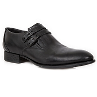 ALL BLACK Quality Leather VIP Shoes