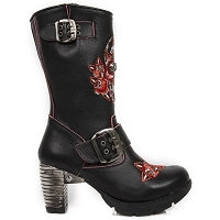 Black Leather Ladies Boots w 3