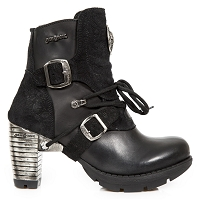 Black Leather & Suede Ladies Boots w 3