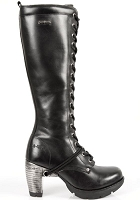 Knee High Goth Leather Boots w 3