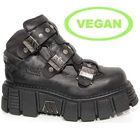 Black Vegan Barbarian Ankle Stompers *May take up to 45 - 50 Days to Receive*