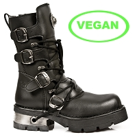 Black Vegan New Rock Boots *May take up to 45 - 50 Days to Receive*