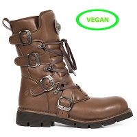 Light Brown Vegan New Rock Boots