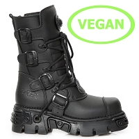 All Black Vegan New Rock Boots